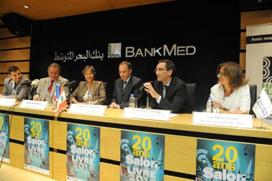 De gauche à droite : Dan Strenescu, Georges Tabet, Ruth Flint, Mohamed Ali Beyhum, Aurélien Lechevallier et Salwa Nacouzi. Photo Michel Sayegh